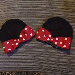 Minnie Mouse Ear Hair Clips
